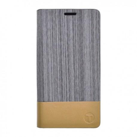 Bočné knižkové puzdro Huawei P8 Lite, sivá látka