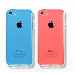 Gumené puzdro Slim iPhone 5C, transparentné