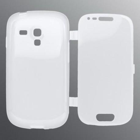 Gumené otváracie puzdro Samsung i8190 Galaxy S3 Mini, transparen