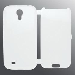 Gumené otváracie puzdro Samsung i9500 Galaxy S4, transparentné