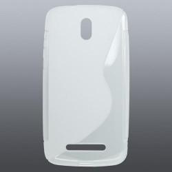 DESIRE 500 HTC (Z3) gumené púzdro transparentné