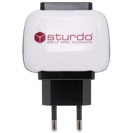 Sturdo sieťová nabíjačka Dual USB, 5V/2A