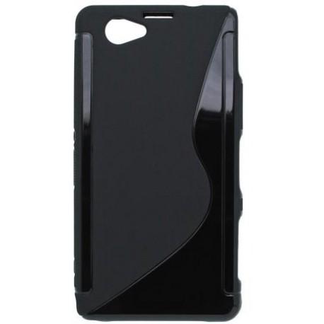 Gumené puzdro Sony Xperia Z1 Compact (mini), čierne