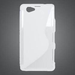 Gumené puzdro Sony Xperia Z1 Compact (mini), transparentné