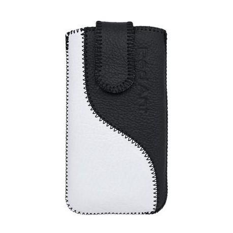 Kožené puzdro Samsung i9300 Galaxy S III čierna/biela