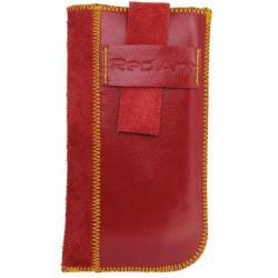 Kožené puzdro Rebel, XL, červené