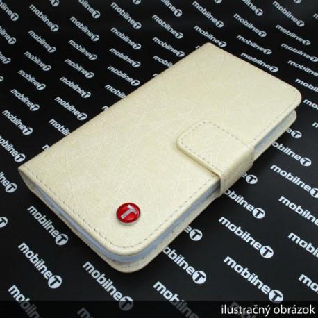 Knižkové puzdro Scratch Samsung Galaxy S4, béžové