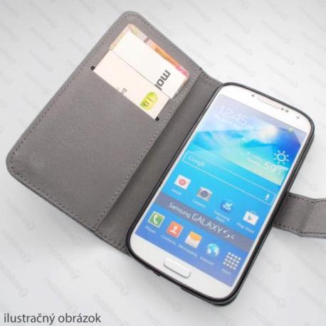 Knižkové puzdro Scratch Samsung Galaxy S5, čierne