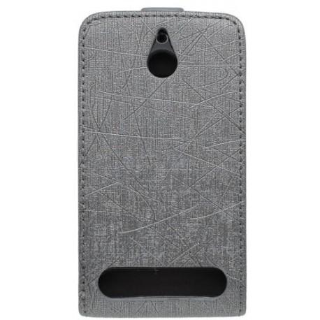 Knižkové puzdro Scratch Sony Xperia E1, čierne