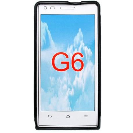 Gumené puzdro Huawei Ascend G6, čierne