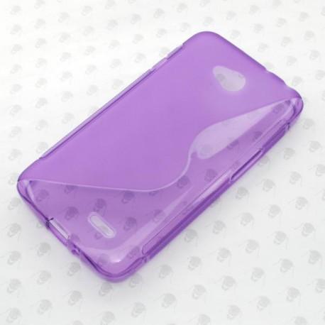Gumené puzdro LG L70, fialové