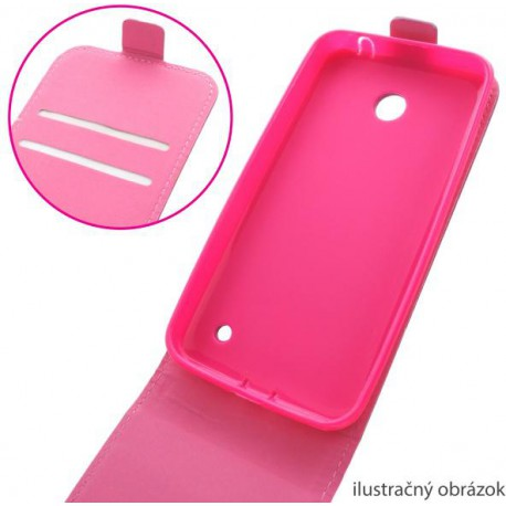 Knižkové puzdro Nokia Lumia 635, ružové