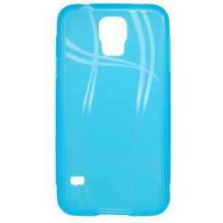 Puzdro Well Lines Samsung Galaxy S5, svetlomodré