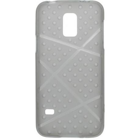 Gumené puzdro Bubble Samsung Galaxy S5 mini, sivé