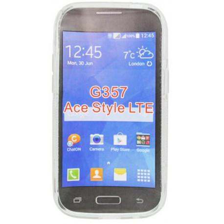 Gumené puzdro S-Line Samsung Galaxy Ace 4, transparentné