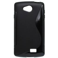 Gumené puzdro S-Line LG F60, čierne