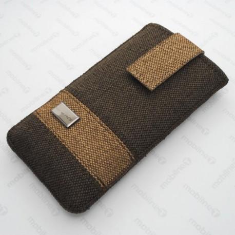 Textilné puzdro September iPhone 6, hnedé