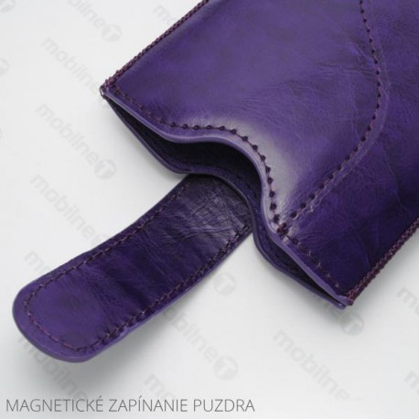 Koženková vsuvka Tidy, XL, fialová | Magnetické zatváranie