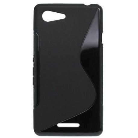 Gumené puzdro S-line Sony Xperia E3, čierne
