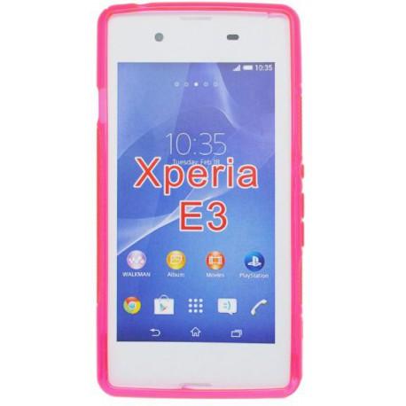 Gumené puzdro S-line Sony Xperia E3, ružové