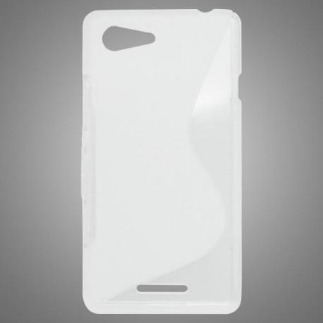 Gumené puzdro S-line Sony Xperia E3, transparentné
