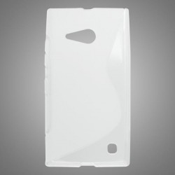 Gumené puzdro S-line Nokia Lumia 735, transparentné