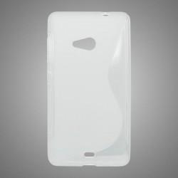 Gumené puzdro S-Line Microsoft Lumia 535, transparentné