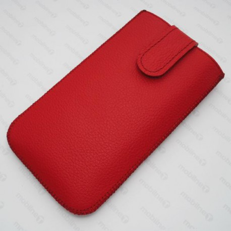 Kožená vsuvka Red Ant Samsung Galaxy Note 4, červená
