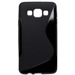 Gumené puzdro S-line Samsung Galaxy A3, čierne