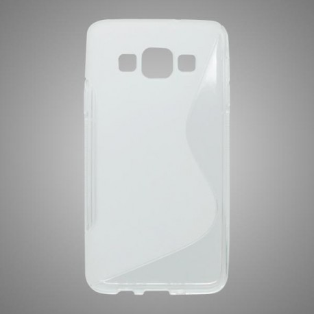 Gumené puzdro S-line Samsung Galaxy A3, transparentné