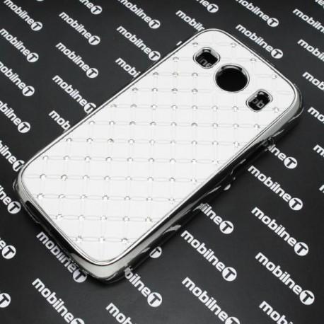 Plastové kamienkové puzdro Samsung Galaxy Ace Style LTE, biele