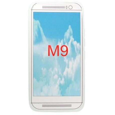 Gumené puzdro HTC One M9, priehľadné