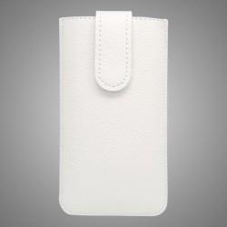 Kožená vsuvka Samsung Galaxy A3, biela