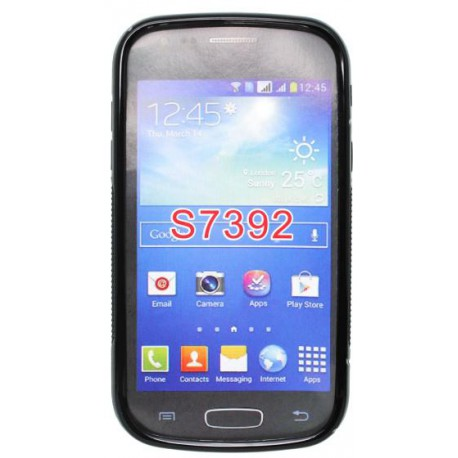 Gumené puzdro S-Line Samsung Galaxy Trend Lite, čierne