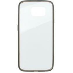 Gumený obal Samsung Galaxy S6, priehľadné, sivý rám