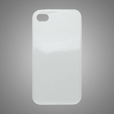 Gumené puzdro iPhone 4, priehľadné