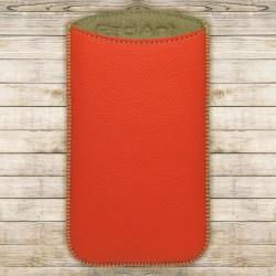 Kožená vsuvka Spring, veľkosť XL, oranžová, zelené vnútro