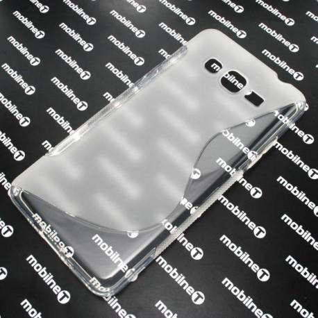Gumené puzdro S-Line Samsung Galaxy Grand Prime, transparentné