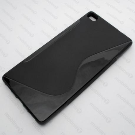 Gumené puzdro S-Line Huawei P8, čierne