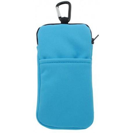 Textilné zipsové puzdro Softshell, 4XL, modré