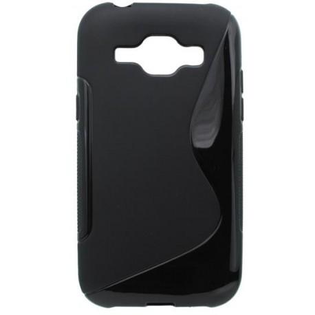 Gumené puzdro S-Line Samsung Galaxy J1, čierne