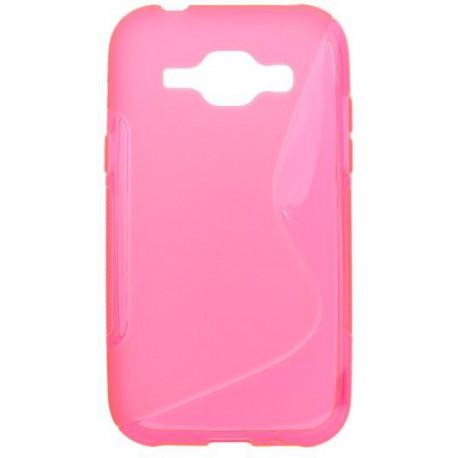 Gumené puzdro S-Line Samsung Galaxy J1, ružové