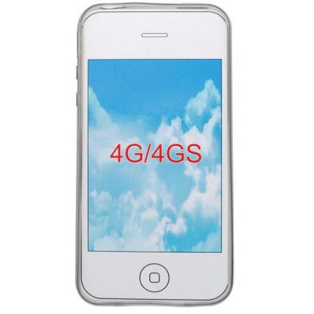 Gumené puzdro iPhone 4,sivé