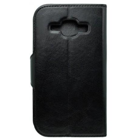 Bočné knižkové puzdro Samsung Galaxy J1, čierne