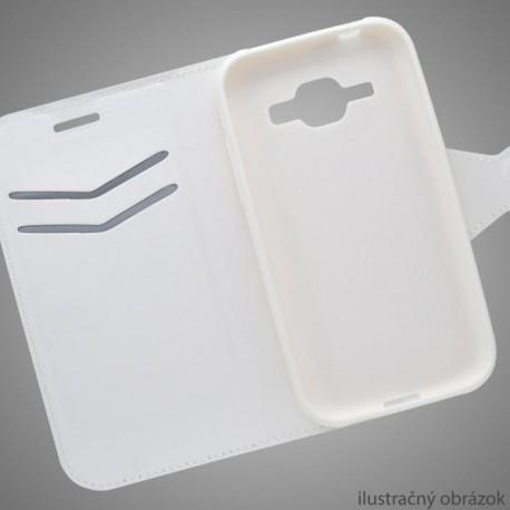 Knižkové puzdro bočné Huawei P8 Lite, biele