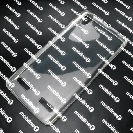 Gumené puzdro Lenovo A6000, priehľadné