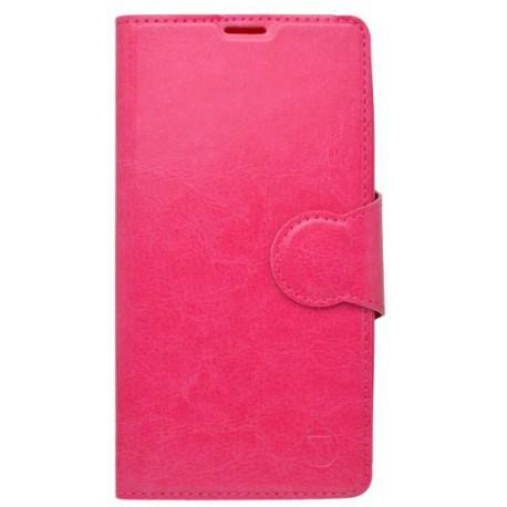 Knižkové puzdro bočné Samsung Galaxy S6 Edge, ružové