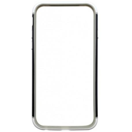 Ochranný silikónový rámik iPhone 6, čierno-biely