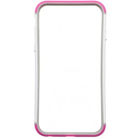 Ochranný silikónový rámik iPhone 6, ružovo-biely