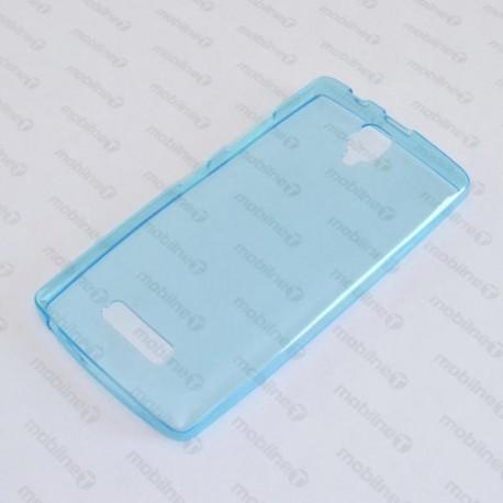 Priehľadné silikónové puzdro Lenovo A2010, modré